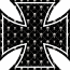 Iron Maltese Cross skulls sticker