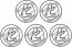Litecoin sticker 5 pack