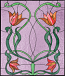 Faux stained glass window cling flowers