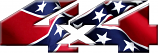 4x4 Confederate Rebel Flag sticker