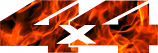 2 4x4 FIRE theme sticker