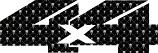 4x4 Skulls sticker