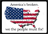 America's Broken bumper sticker