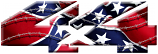 4x4 Confederate Flag Barbed Wire sticker