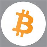 Bitcoin white sticker