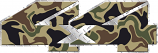 4x4 Camo diamond plate sticker