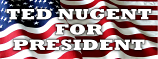 Ted Nuggent for President bumper sticker